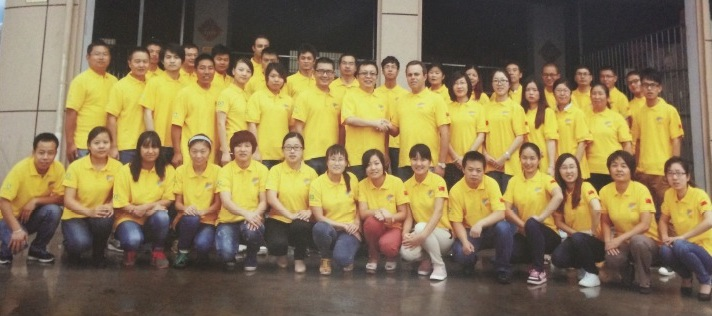 Equipe em Yiwu
