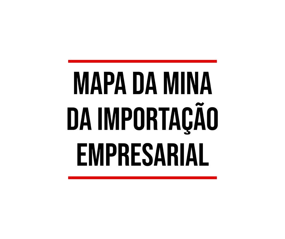 mapa da mina da importação empresarial
