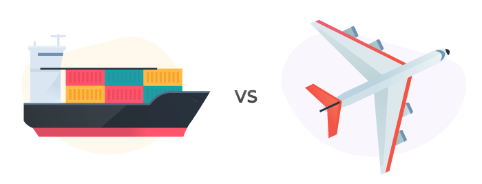 Custo do Frete aéreo e Marítimo